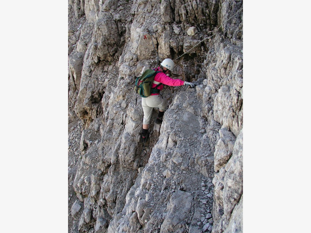 Vallon Klettersteig : Trekking vallon lagazuoi falzarego cortina d